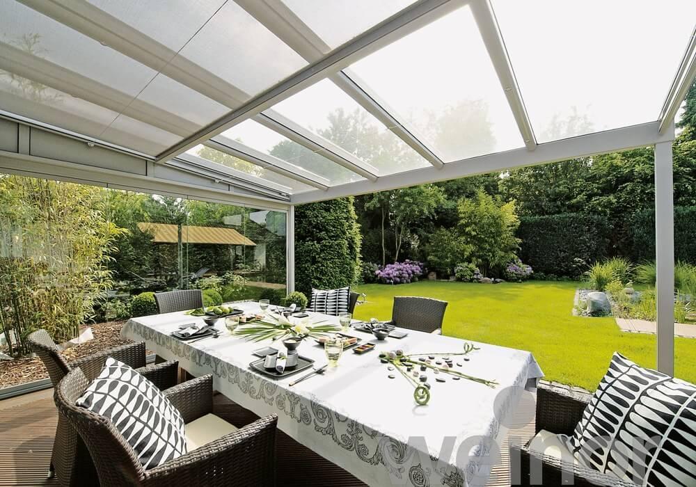 Sticla semitransparenta acoperis terasa