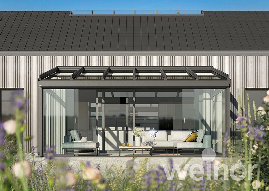 Terasa acoperita cu structura de aluminiu